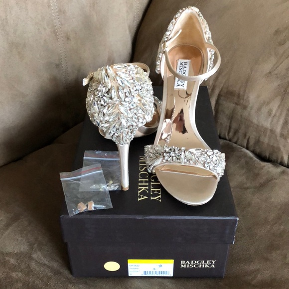4d7afe551f5 Badgley Mischka Shoes - Badgley Mischka Tampa Embellished Heels